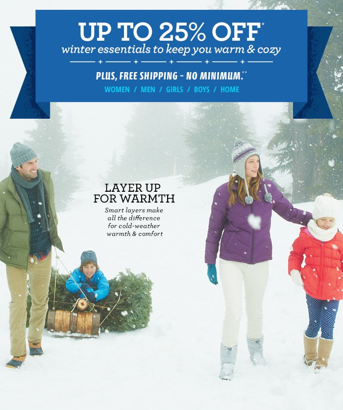Up To 30% Off Winter Essentials to Keep You Warm & Cozy