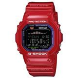 Casio GWX5600C-4 Men's G-Shock G-LIDE Tough Solar Black Dial Red Plastic Strap Digital Alarm Dive Watch