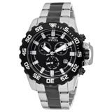 Invicta 13630 Mens Pro Diver Black Dial Chronograph Two Tone Steel Bracelet Watch
