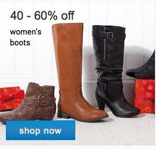 40 - 60% off women's boots. Shop now.