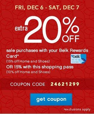 Extra 20% off. Get coupon.