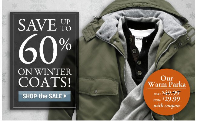 save up to 60 percent on winter coats! shop the sale - click the link below
