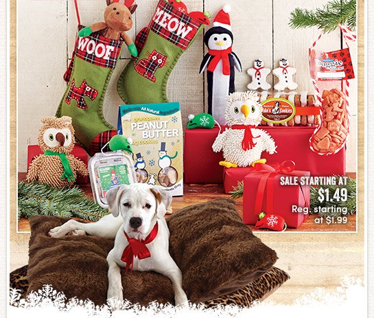 Today's Deal - 1 Day Only (12/6)! Save 25% on All Pet Gifts