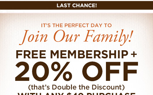 It's the Perfect Day to Join Our Family!