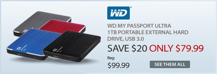 Adorama - WD My Passport Ultra 1TB  Portable External Hard Drive