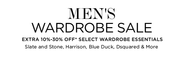 Wardrobe Sale Up to 30% Off*