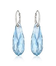 Pure Aquamarine Pierced Earrings