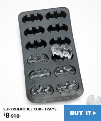 SUPERHERO ICE CUBE TRAYS