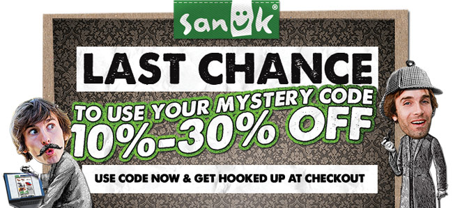 LAST CHANCE TO USE YOUR MYSTERY CODE