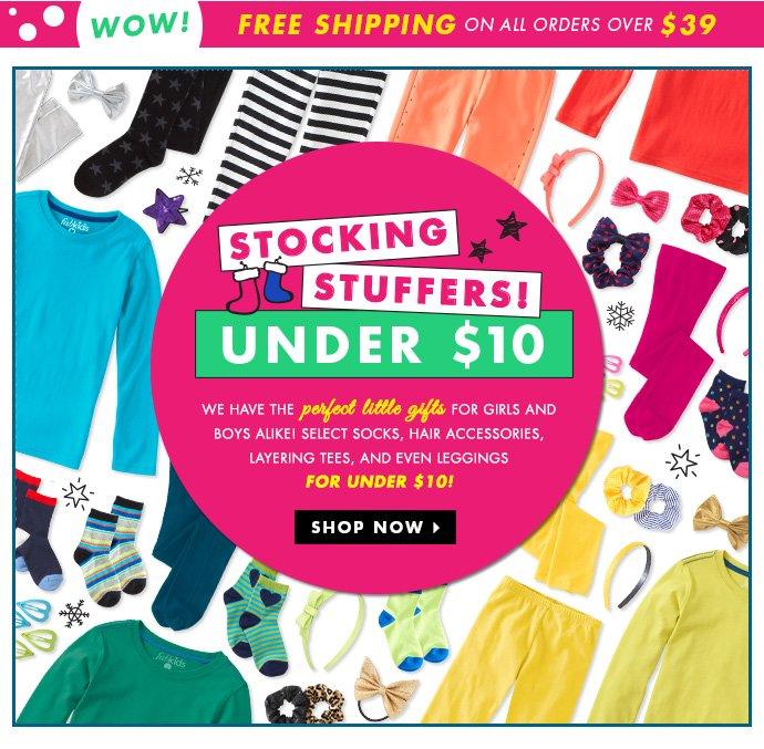 Stocking Stuffers Under $10!