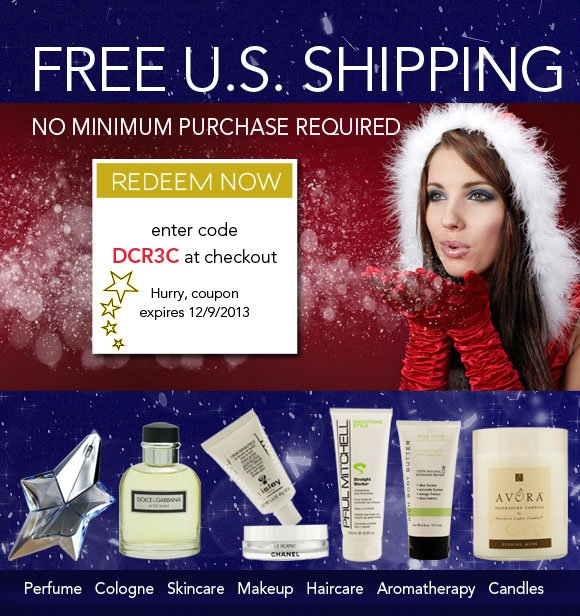 Free Shipping* - Beauty up to 70% OFF department store prices