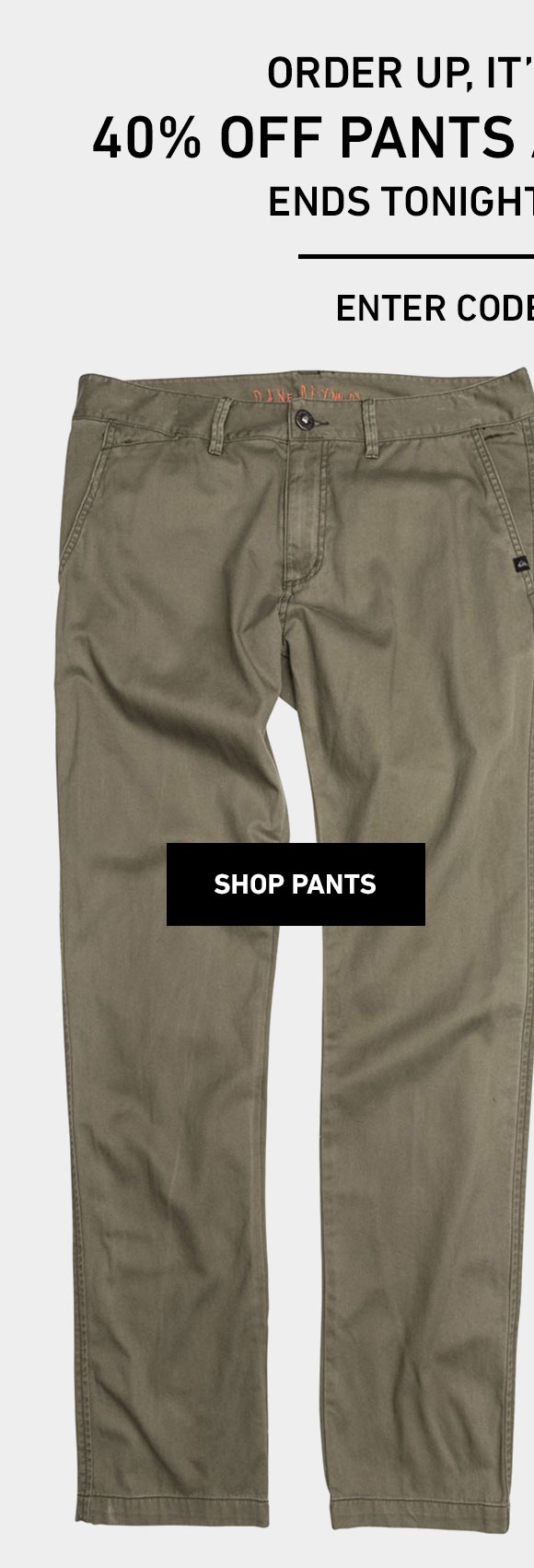 40% Off Pants! Enter Code: STEPITUP