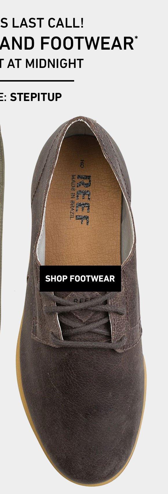 40% Off Footwear! Enter Code: STEPITUP