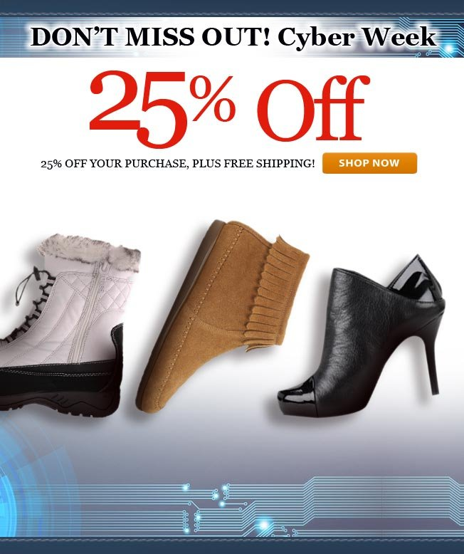 25% off! Cyber Week Continues!