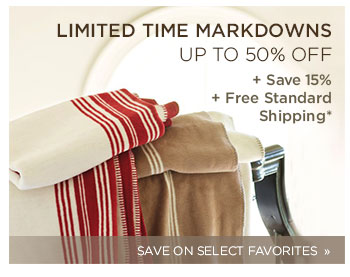 Limited Time Markdowns. Up to 50% off
