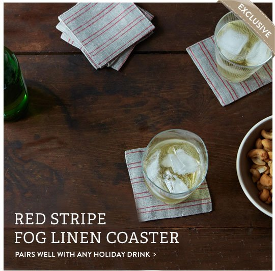 Red Stripe Coasters