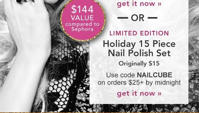 Limited Edition Holiday 9 Piece Glossy Lip Gloss Set Use Code: NAILCUBE Get It Now!