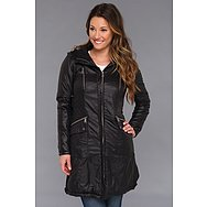 DKNY Three Quarter Zip Front Packable Coat
