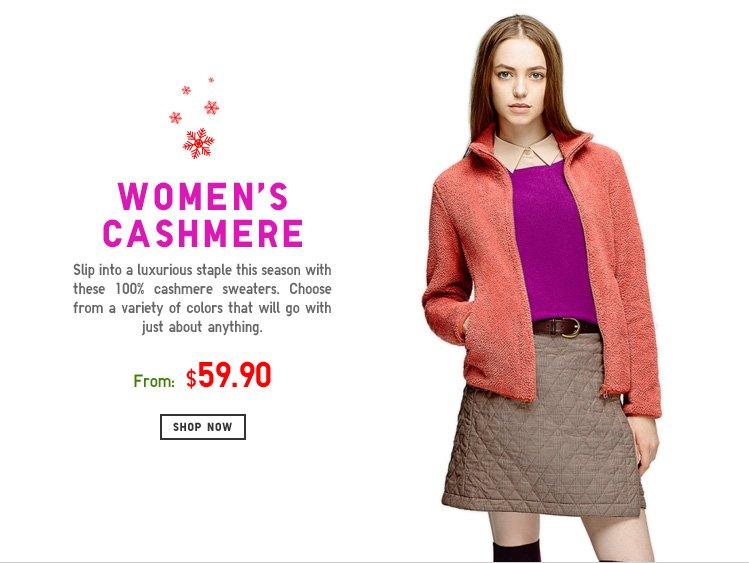 WOMENS CASHMERE