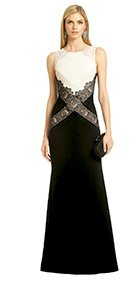 BCBGMAXAZRIA - Locket of Lace Gown
