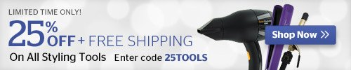 25% Off Tools + Free Shipping