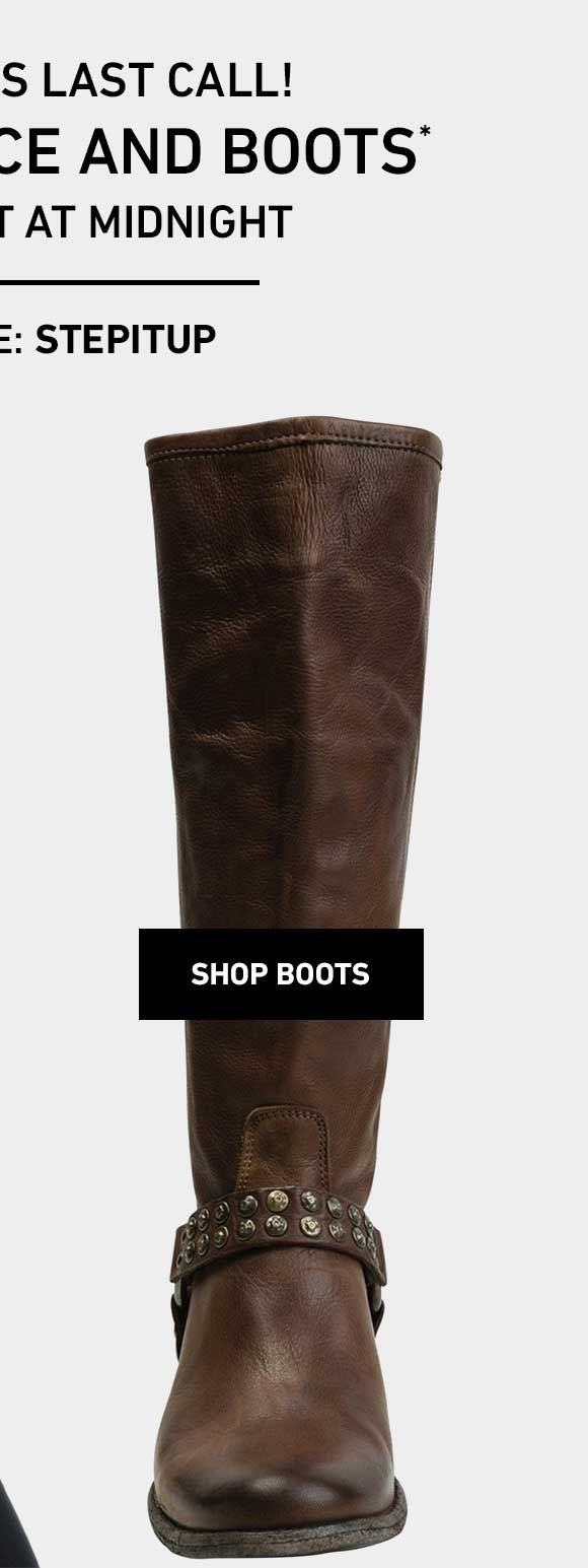 40% Off Boots! Enter Code: STEPITUP