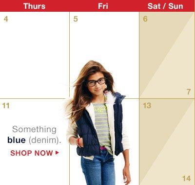 Something Blue (denim). | SHOP NOW