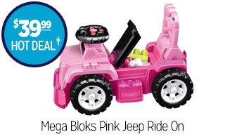 Mega Bloks Pink Jeep Ride On - $39.99 - HOT DEAL