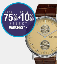 Up to 75% off + Extra 10% off Select Watches**