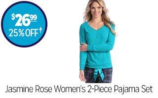 Jasmine Rose Women's 2-Piece Pajama Set - $26.99 - 25% off‡