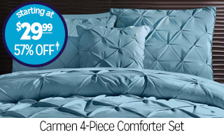 Carmen 4-Piece Comforter Set - Starting at $29.99 - 57% off‡