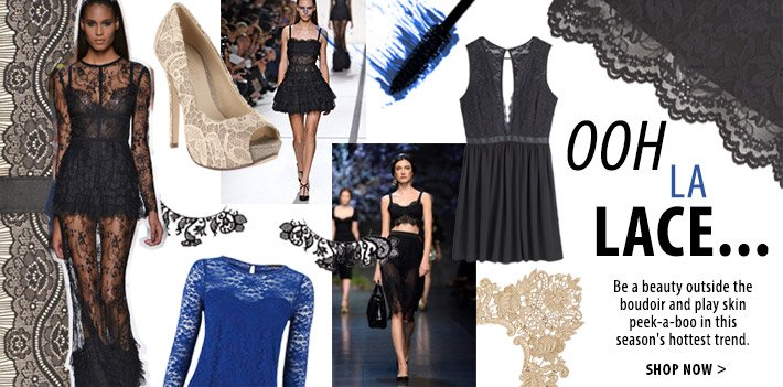 Ooh la lace - be a beauty outside the boudoir in this season's hottest trend