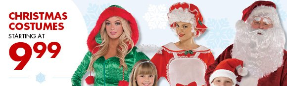 Christmas Costumes Starting at 9.99