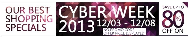 Cyber Week UP TO 80% OFF