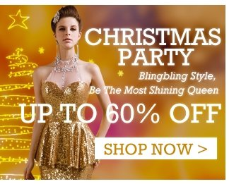 Christams Party Blingbling style, be the most shining Queen up to 60 % off