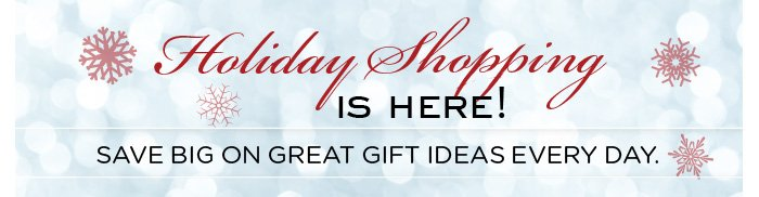 Holiday Shopping is here. Save big on great gift ideas every day.