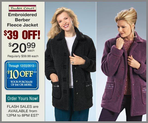 $39 OFF Berber Fleece Jacket
