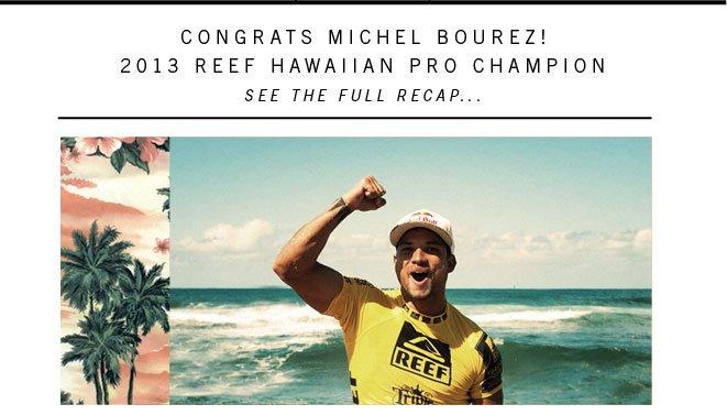 Congrats Michel Bourez!