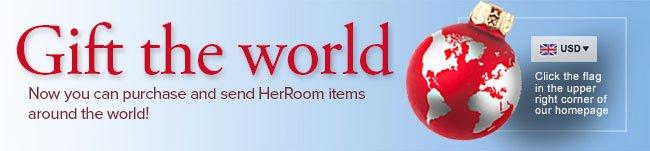 Send HerRoom Gifts Around The World