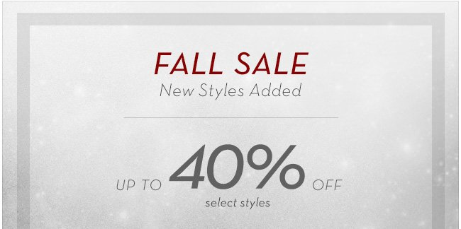 Fall Sale| 40% Off