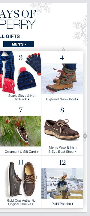 12 Days of Sperry   SHOP NOW >