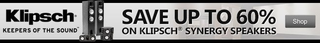 klipsch keepers of the sound. save up to 60 percent on klipsch synerg speakers. shop.