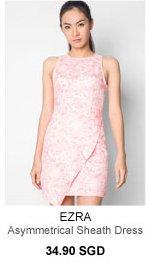 EZRA Asymmetrical Sheath Dress