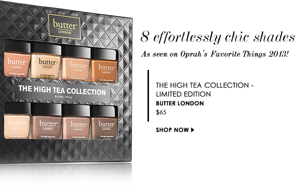 The High Tea Collection - limited edition, Butter LONDON
