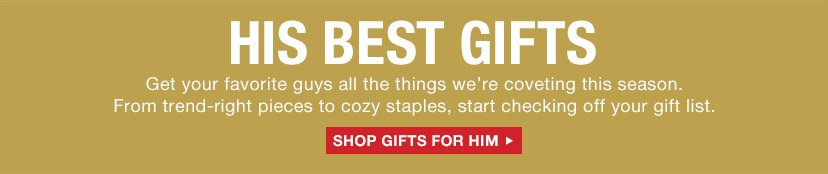 HIS BEST GIFTS | SHOP GIFTS FOR HIM