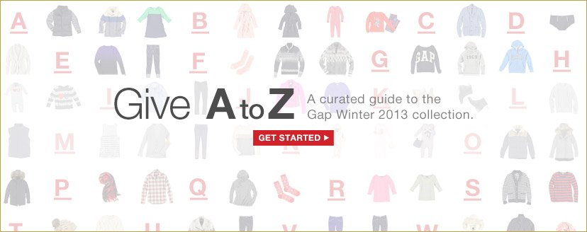 Give A to Z | GET STARTED