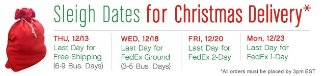 Dates for Christmas Delivery