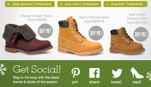 New Timberland Styles + FREE Shipping!