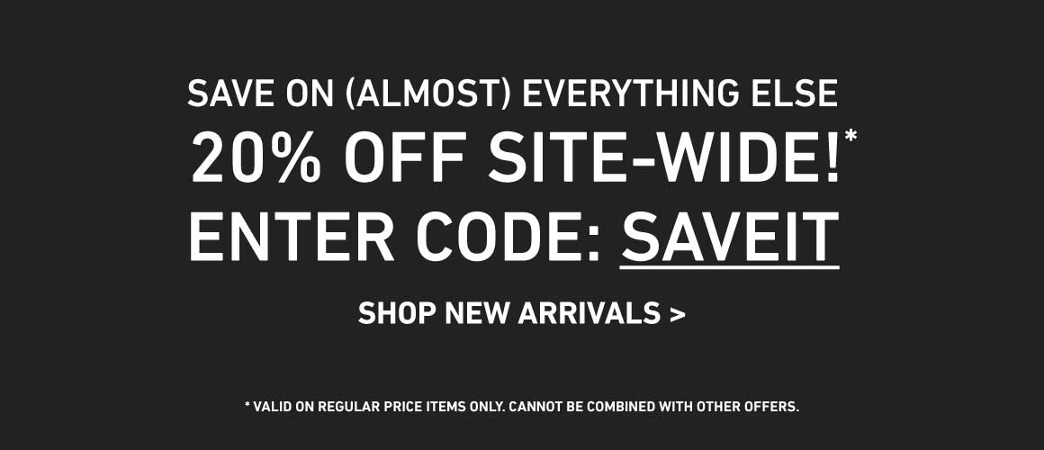 20% Off Site-Wide! Enter Code: SAVEIT