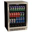 EdgeStar 148 Can Stainless Steel Beverage Cooler - Black & SST